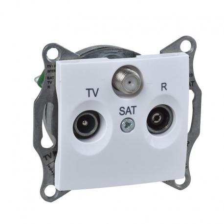 Sedna - Gniazdo R/TV/SAT przelotowe (4dB) (DIY) biały