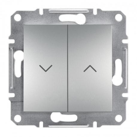 Asfora - Przycisk żaluzjowy bez ramki (zaciski śrubowe) aluminium