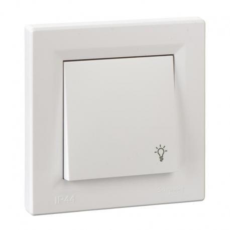 Asfora - Przycisk światło IP44 biały
