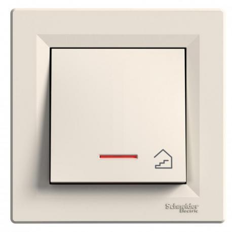 Asfora - Przycisk schody z podświetleniem (zaciski śrubowe) krem