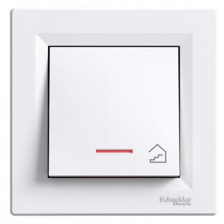 Asfora - Przycisk schody z podświetleniem (zaciski śrubowe) biały