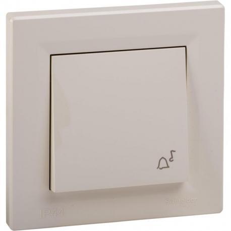 Asfora - Przycisk dzwonek IP44 krem
