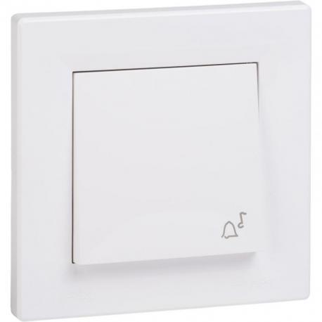 Asfora - Przycisk dzwonek IP44 biały