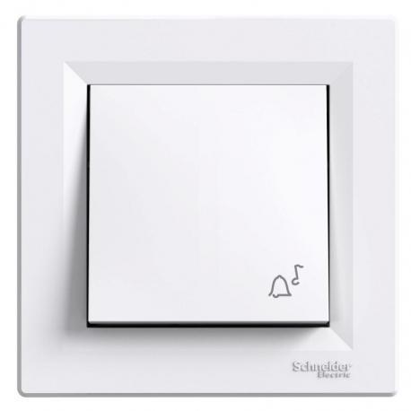 Asfora - Przycisk dzwonek biały