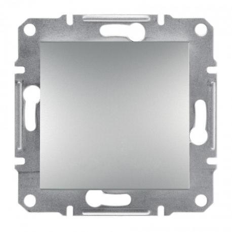 Asfora - Przycisk bez ramki (zaciski śrubowe) aluminium