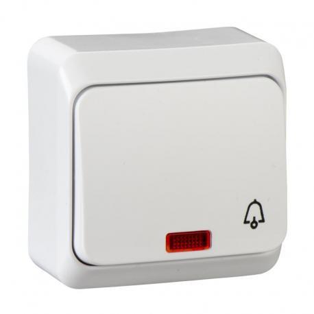 Prima - Przycisk dzwonek z podświetleniem biały