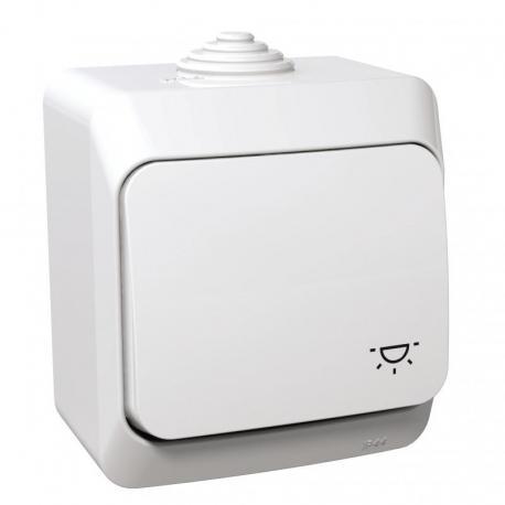 Cedar Plus - Przycisk światło IP44 biały