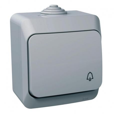 Cedar Plus - Przycisk dzwonek IP44 szary