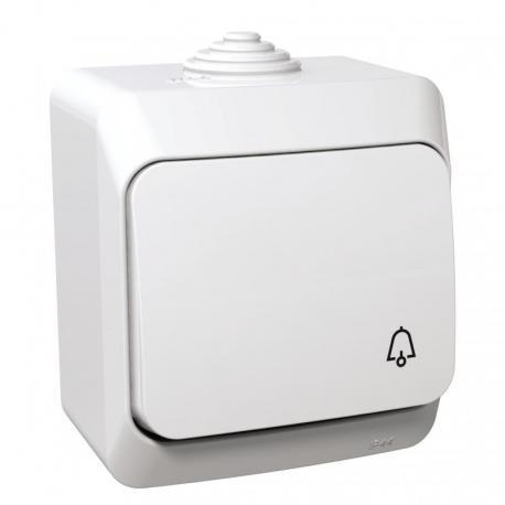 Cedar Plus - Przycisk dzwonek IP44 biały