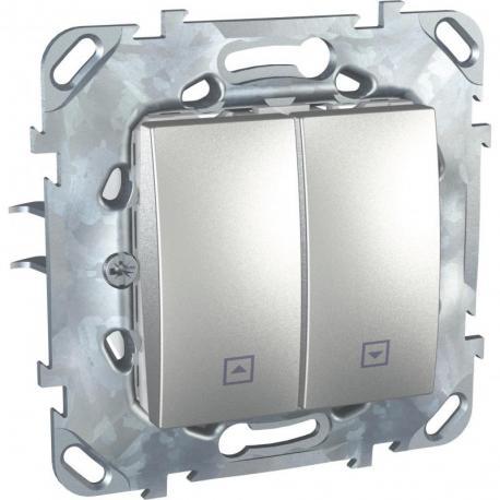 Unica Top - Przycisk żaluzjowy aluminium
