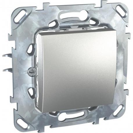 Unica Top - Przycisk 1-biegunowy aluminium