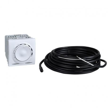 Unica - Regulator temperatury z czujnikiem podłogowym bez ramki montaż. biel p.