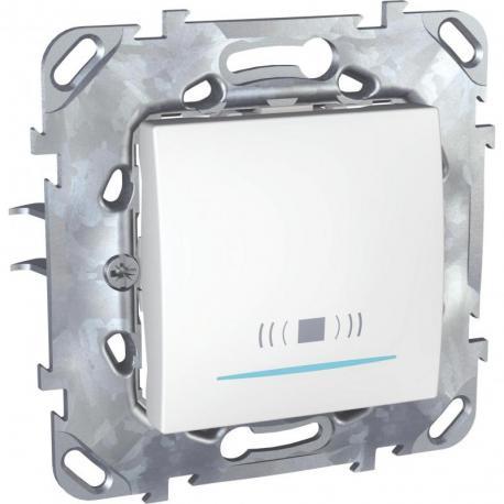 Unica - Przycisk dzwonek z podświetleniem biel polarna