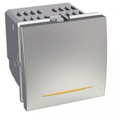 Altira - przycisk ściemniacz uniwersalny - 0-350W/VA - aluminium