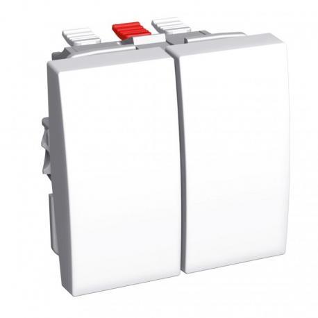 Altira - przycisk - podwójny - 10 A - biel polarna