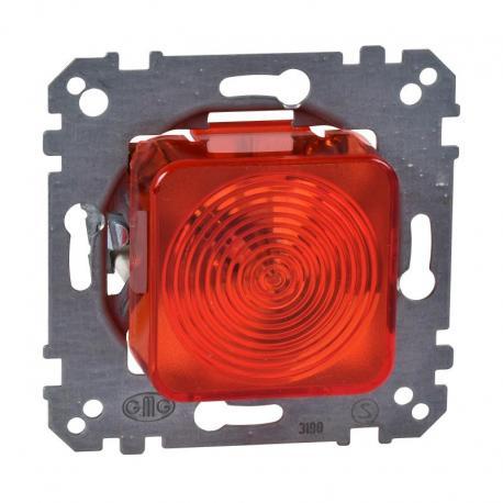 Merten - Mechanizm sygnalizacji świetlnej klosz czerwony żarówka e10 250VAC 3W