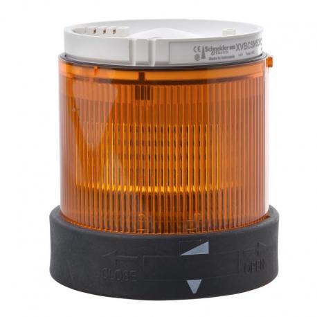 Element świetlny migający 70 pomarańczowy LED 24V AC/DC