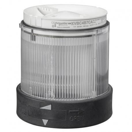 Element świetlny 70 bezbarwny światło ciągłe LED 24V AC/DC