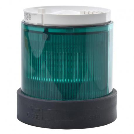 Element świetlny z filtrem rozpraszającym 70 zielony ciągły LED 24V AC/DC
