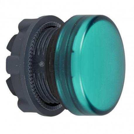 Lampka sygnalizacyjna zielona żarówka BA 9s plastikowa typowa