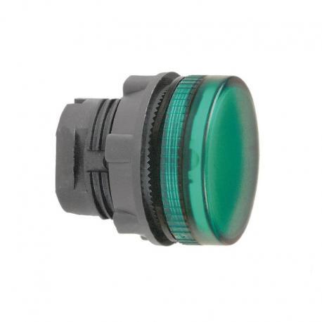 Lampka sygnalizacyjna zielona żarówka BA 9s plastikowa karbowana