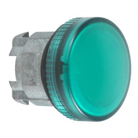 Lampka sygnalizacyjna zielona żarówka BA 9s metalowa typowa