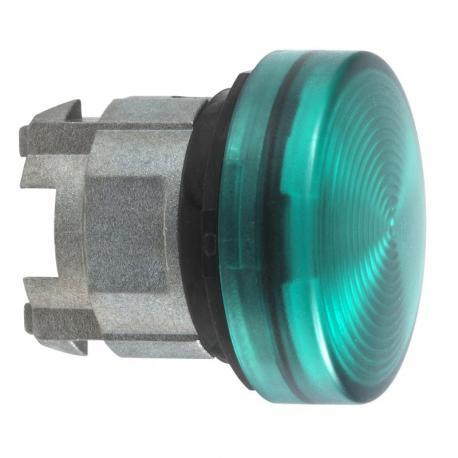 Lampka sygnalizacyjna zielona żarówka BA 9s metalowa karbowana