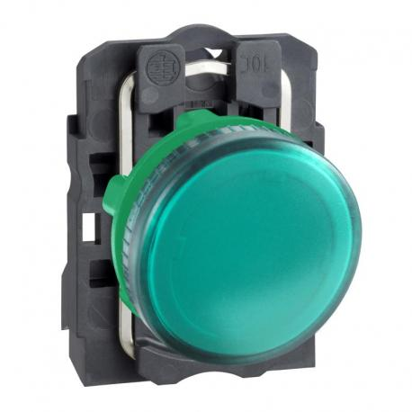 Lampka sygnalizacyjna zielona żarówka 250V plastikowa typowa