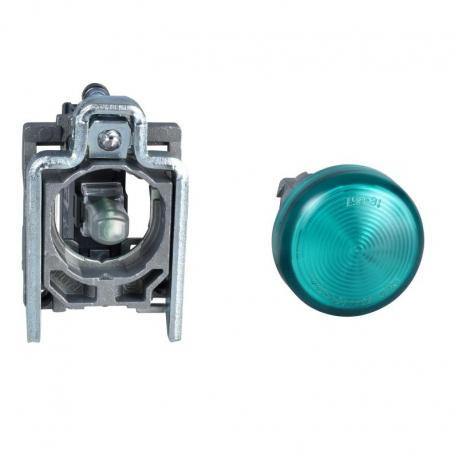 Lampka sygnalizacyjna zielona żarówka 250V metalowy typowa