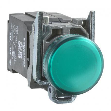 Lampka sygnalizacyjna zielona żarówka 220-240V metalowy typowa