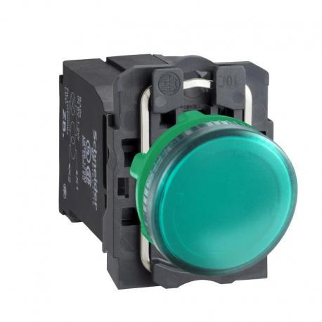 Lampka sygnalizacyjna zielona żarówka 110-120V plastikowa typowa