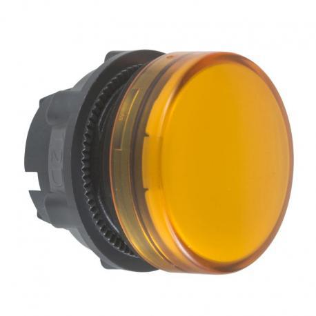 Lampka sygnalizacyjna pomarańczowa żarówka BA 9s plastikowa typowa