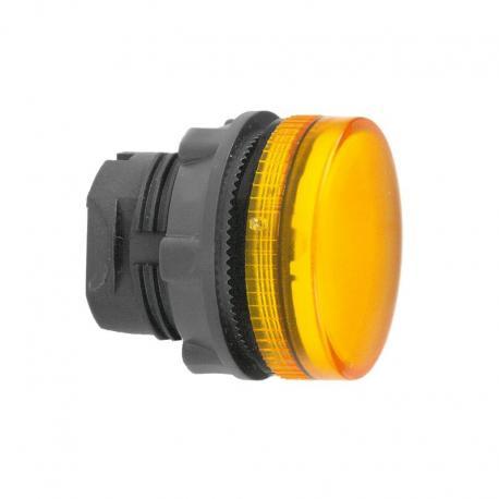 Lampka sygnalizacyjna pomarańczowa żarówka BA 9s plastikowa karbowana