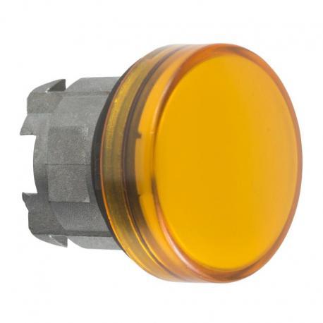 Lampka sygnalizacyjna pomarańczowa żarówka BA 9s metalowa typowa