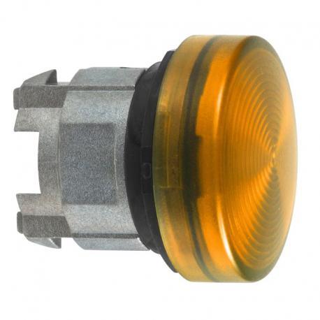 Lampka sygnalizacyjna pomarańczowa żarówka BA 9s metalowa karbowana