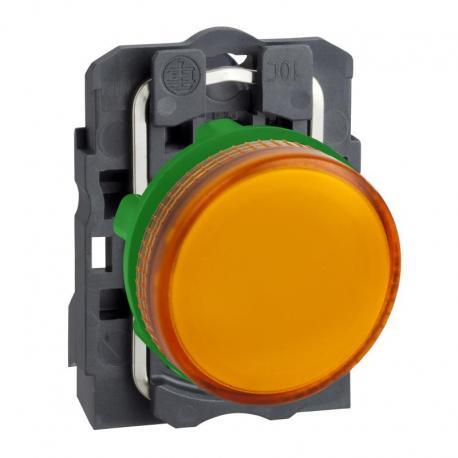 Lampka sygnalizacyjna pomarańczowa żarówka 250V plastikowa typowa