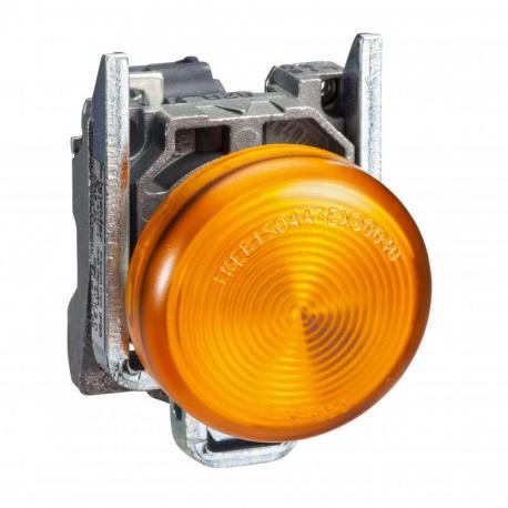 Lampka sygnalizacyjna pomarańczowa żarówka 250V metalowy typowa