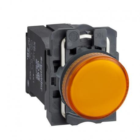 Lampka sygnalizacyjna pomarańczowa żarówka 220-240V plastikowa typowa
