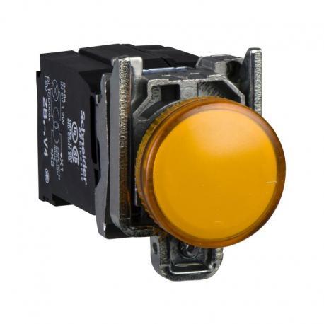 Lampka sygnalizacyjna pomarańczowa żarówka 220-240V metalowy typowa