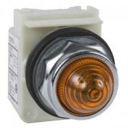 Lampka sygnalizacyjna okr. 30- bursztynowa - żarówka BA 9s - 230 V AC - IP66