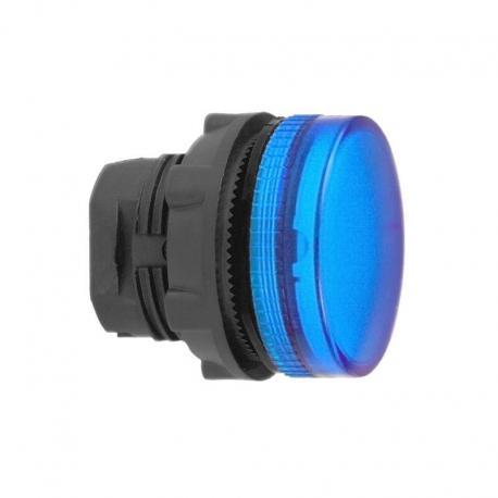 Lampka sygnalizacyjna niebieska żarówka BA 9s plastikowa karbowana