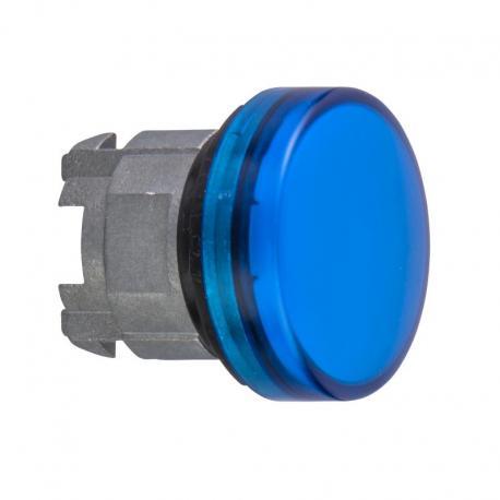Lampka sygnalizacyjna niebieska żarówka BA 9s metalowa karbowana