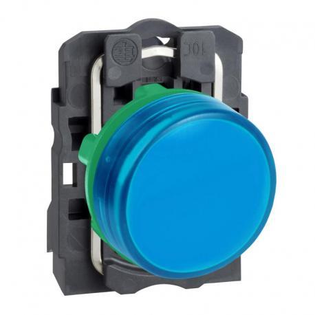 Lampka sygnalizacyjna niebieska bez żarówki 250V plastikowa