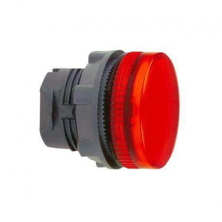 Lampka sygnalizacyjna czerwona żarówka BA 9s plastikowa karbowana
