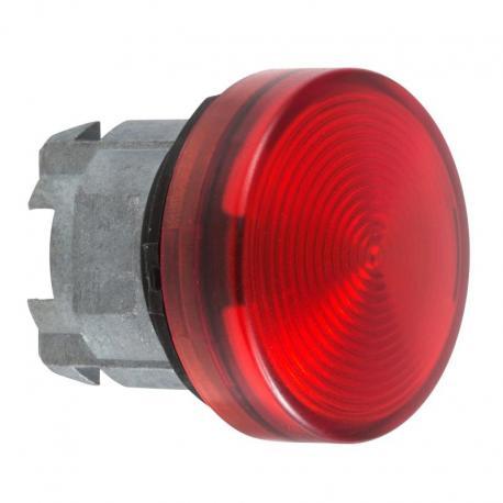 Lampka sygnalizacyjna czerwona żarówka BA 9s metalowa karbowana
