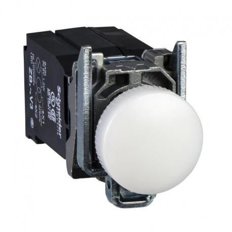 Lampka sygnalizacyjna biała żarówka 110-120V metalowy typowa