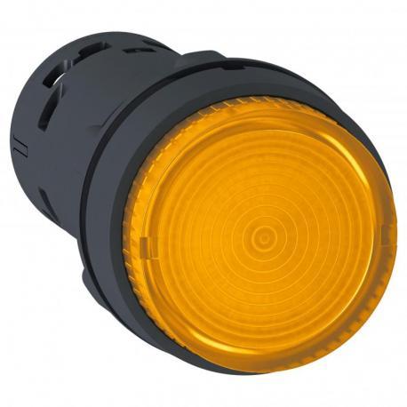 Przycisk wystający pomarańczowy push-push bez oznaczenia żarówka BA 9s 250V