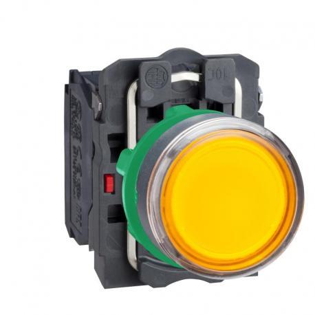 Przycisk płaski pomarańczowy żarówka 250V bezpośrednie plastikowy