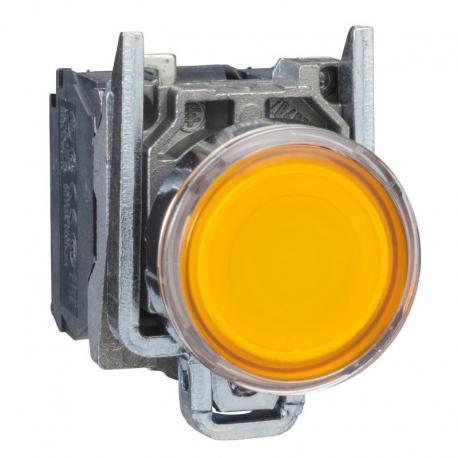 Przycisk płaski pomarańczowy żarówka 250V bezpośrednie metalowy
