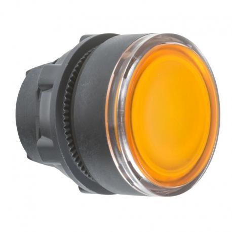Przycisk płaski pomarańczowy samopowrotny żarówka BA 9s plastikowy typowa